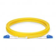 3m (10ft) LC UPC to LC UPC Duplex OS2 Single Mode PVC (OFNR) 2.0mm Bend Insensitive Fiber Optic Patch Cable