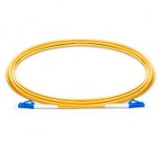 Biegeunempfindliches LWL-Patchkabel, 2m (7ft) LC UPC auf LC UPC Simplex Stecker, OS2 Singlemode PVC (OFNR) 2,0mm