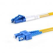 Cable de fibra óptica monomodo insensible a la curvatura, 9/125 OS2 LC UPC a SC UPC dúplex G.657.A1 2m