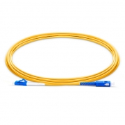 3m (10ft) LC UPC to SC UPC Simplex OS2 Single Mode PVC (OFNR) 2.0mm Bend Insensitive Fiber Optic Patch Cable