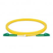 Cable de fibra óptica monomodo insensible a la curvatura, 9/125 OS2 LC APC a LC APC dúplex G.657.A1 1m