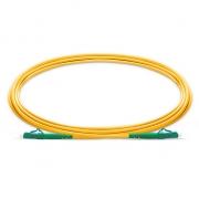 2m (7ft) LC APC to LC APC Simplex OS2 Single Mode PVC (OFNR) 2.0mm Bend Insensitive Fiber Optic Patch Cable