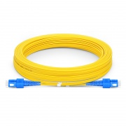 10m (33ft) SC UPC to SC UPC Duplex OS2 Single Mode PVC (OFNR) 2.0mm Bend Insensitive Fiber Optic Patch Cable