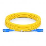 Biegeunempfindliches LWL-Patchkabel, 10m (33ft) SC UPC auf SC UPC Duplex Stecker, OS2 Singlemode PVC(OFNR) 2,0mm