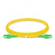 2m (7ft) SC APC to SC APC Duplex OS2 Single Mode PVC (OFNR) 2.0mm Bend Insensitive Fiber Optic Patch Cable