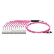 Customized 20/24 Fibers MTP®-24 OM4 Multimode HD BIF Breakout Cable, Elite, LSZH Bunch