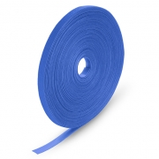 25m/Roll 1000in.L x 0.48in.W Back to Back Reusable Cable Ties- Blue