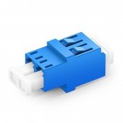 LC/UPC to LC/UPC Duplex OS2 Single Mode Standard Type Fiber Optic Adapter/Mating Sleeve without Flange