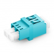 LC/UPC to LC/UPC Duplex OM3/OM4 Multimode Fiber Optic Adapter/Mating Sleeve without Flange