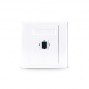 Single Port SC Simplex UPC OM3/OM4 Multimode Fiber Optic Wall Plate Outlet with Adapter, Straight