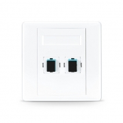 2-Port Fibre Optic Wall Plate Outlet, SC Simplex UPC OM3/OM4 Multimode, Straight
