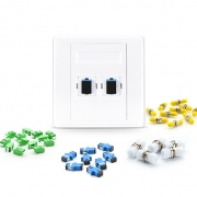 Customized 2-Port Fiber Optic Wall Plate Outlet