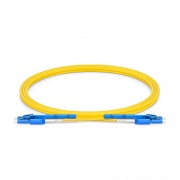 2m (7ft) LC UPC to LC UPC Uniboot with Push Pull Tabs OS2 Single Mode PVC (OFNR) 2.0mm Fibre Optic Patch Lead