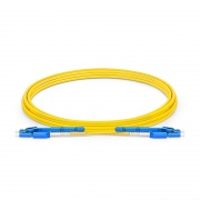 3m (10ft) LC UPC to LC UPC Uniboot with Push Pull Tabs OS2 Single Mode PVC (OFNR) 2.0mm Fibre Optic Patch Lead
