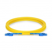 5m (16ft) LC UPC to LC UPC Uniboot with Push Pull Tabs OS2 Single Mode PVC (OFNR) 2.0mm Fibre Optic Patch Lead