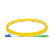 3m (10ft) LC UPC to SC APC Simplex OS2 Single Mode PVC (OFNR) 2.0mm Fiber Optic Patch Cable