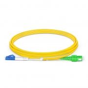 2m (7ft) LC UPC to SC APC Duplex OS2 Single Mode PVC (OFNR) 2.0mm Fiber Optic Patch Cable