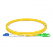 1m (3ft) LC UPC to SC APC Duplex OS2 Single Mode PVC (OFNR) 2.0mm Fiber Optic Patch Cable