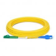 7m (23ft) LC APC to SC UPC Duplex OS2 Single Mode PVC (OFNR) 2.0mm Bend Insensitive Fiber Optic Patch Cable