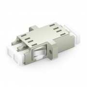 LC/UPC to LC/UPC Duplex OM1/OM2 Multimode SC Footprint Plastic Fiber Optic Adapter/Coupler with Flange