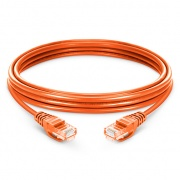 6.6ft (2m) Cat5e Snagless Unshielded (UTP) PVC Ethernet Network Patch Cable, Orange