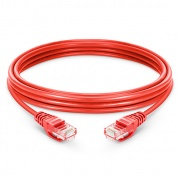 10ft (3m) Câble Réseau Ethernet Cat5e Snagless Non Blindé (UTP) PVC, Rouge