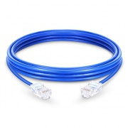 Cable de Red Ethernet LAN RJ45 UTP Cat 5e 1m 10/100/1000 Mbps PVC Azul