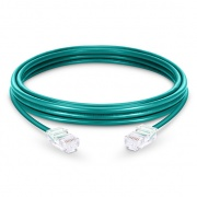 3.3ft (1m) Cat5e Non-booted Unshielded (UTP) PVC Ethernet Network Patch Cable, Green