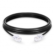6.6ft (2m) Cat5e Non-booted Unshielded (UTP) PVC Ethernet Network Patch Cable, Black