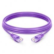 Cable de Red Ethernet LAN RJ45 UTP Cat 5e 3m 10/100/1000 Mbps LSZH Púrpura