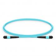 Cable troncal Elite Senko MPO hembra 12 fibras tipo B LSZH OM3 50/125 multimodo, aguamarina, 1m