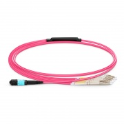 1m (3ft) Senko MPO Female to 4 LC UPC Duplex 8 Fibers Type B LSZH OM4 (OM3) 50/125 Multimode Elite Breakout Cable, Magenta