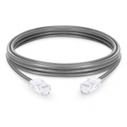 6in (0.15m) Cat5e Non-booted Unshielded  (UTP) PVC Ethernet Network Patch Cable, Gray