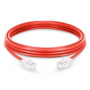 6in (0.15m)Cat5e Non-booted Unshielded (UTP) PVC Ethernet Network Patch Cable, Red