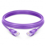 6in (0.15m) Cat6 Snagless Unshielded (UTP) PVC Ethernet Network Patch Cable, Purple