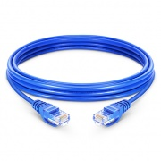 Cable de Red Ethernet LAN RJ45 UTP Cat 6 0.3m 10/100/1000 Mbps hasta 10 Gbps PVC Azul