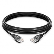 0.3m Cat6 Ethernet Patch Cable - Snagless, Unshielded (UTP) PVC, Black