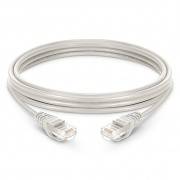 0.3m Cat6 Ethernet Patch Cable - Snagless, Unshielded (UTP) PVC, White