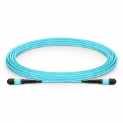 Cable Troncal de Fibra Óptica OM3 50/125 Multimodo MTP-MTP 12 Fibras tipo A, élite, plenum (OFNP) 5m - Azul Celeste