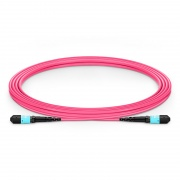 3m (10ft) MTP Male 12 Fibers Type B Plenum (OFNP) OM4 (OM3) 50/125 Multimode Elite Trunk Cable, Magenta