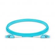 Cable de conexión de fibra, PVC(OFNR) 3m (10ft) LC UPC a LC UPC dúplex OM3 multimodo conmutable uniboot