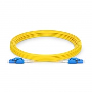 5m (16ft) LC UPC to LC UPC Switchable Uniboot Duplex OS2 Single Mode PVC (OFNR) 2.0mm Fiber Optic Patch Cable