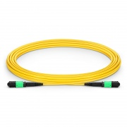 5m (16ft) Senko MPO Female 12 Fibers Type A LSZH OS2 9/125 Single Mode Elite Trunk Cable, Yellow