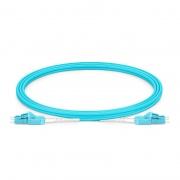 2m (7ft) LC UPC a LC UPC dúplex 2.0mm OM3 multimodo unibota BIF Cable de conexión de fibra óptica, PVC(OFNR)