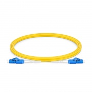 2m (7ft) LC UPC to LC UPC Uniboot Duplex OS2 Single Mode PVC (OFNR) 2.0mm BIF Fiber Optic Patch Cable