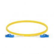 1m (3ft) LC UPC to LC UPC Uniboot Duplex OS2 Single Mode PVC (OFNR) 2.0mm BIF Fiber Optic Patch Cable