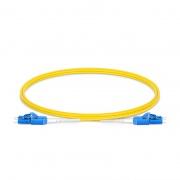 Uniboot Biegeunempfindliches LWL-Patchkabel, 1m (3ft) LC UPC auf LC UPC Duplex Stecker, OS2 Singlemode PVC(OFNR) 2,0mm