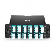 2x MTP-12 to 12x LC Duplex, Type B1, 24 Fibers OM3 Multimode FHD MTP/MPO Cassette