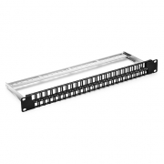 48-Port Blank Keystone/Multimedia Patch Panel, Unshielded, 1U Rack Mount