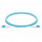 Customized LC UPC to LC UPC Uniboot Duplex 0.2dB IL OM3 Multimode 2.0mm BIF Fiber Optic Patch Cable